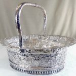 Antique Geo II Irish Silver Bread Basket (HRA photo)