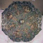 Antique Chinese Bronze Mirror Plaque, Tang (HRA photo)