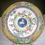 Antique Chinese Enamel Plate (HRA photo)